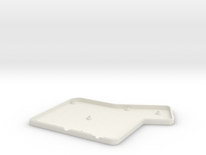 ErgoDox Bottom Right Case (flat) in White Natural Versatile Plastic