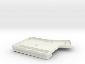 ErgoDox Bottom Right Case (single slope) in White Natural Versatile Plastic