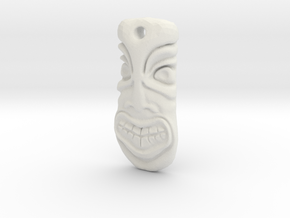 TikiPendant8 in White Natural Versatile Plastic