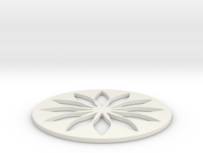 Hillbarn 2012   Crop Circle Geometry   Open Versio in White Natural Versatile Plastic