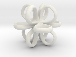1 Inch Loop Cube Smooth in White Strong & Flexible