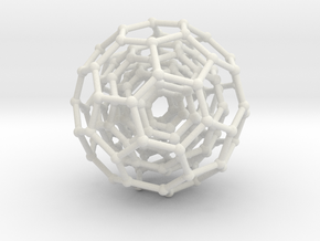 Three BuckyBalls in White Natural Versatile Plastic
