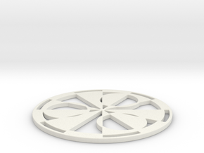 Stonehenge 2011 Crop Circle in White Natural Versatile Plastic