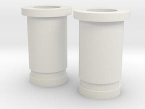 Circular Plug Hollow - 4 Gauge in White Strong & Flexible