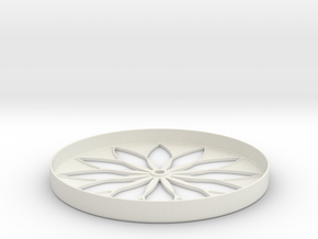 Hillbarn 2012 Crop Circle Clock in White Natural Versatile Plastic