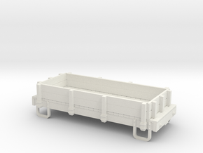 55n9 13ft 4 wheeled Low sided gondola  in White Natural Versatile Plastic