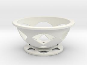 Font Hill Crop Circle Basket   Flat Bottom in White Natural Versatile Plastic