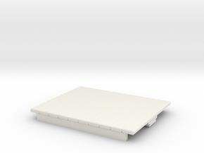 O9 4w Short Flat car  in White Natural Versatile Plastic