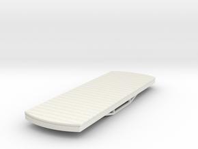 55n9 bogie flat car in White Natural Versatile Plastic