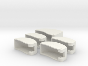 Dx6i Switch Guard Set in White Natural Versatile Plastic