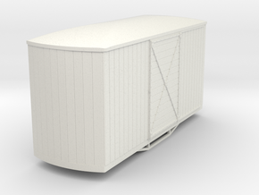 55n9 bogie box car round end in White Natural Versatile Plastic