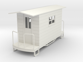 55n9 caboose 1  in White Natural Versatile Plastic