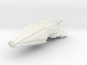 Pointy Ship in White Natural Versatile Plastic