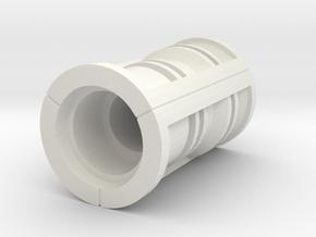 Industrial Bladeplug in White Natural Versatile Plastic