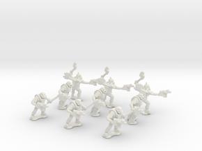 15mm Greenskin Grunts (x9) in White Natural Versatile Plastic