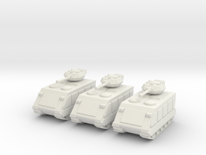 15mm Scorpion AFV (x3) in White Natural Versatile Plastic