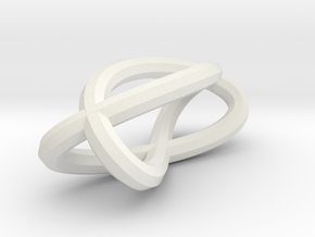 trefoilKnot Fused in White Natural Versatile Plastic