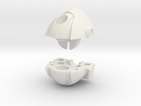 Wrecker Ironfist Head - Bullet Hole in White Natural Versatile Plastic