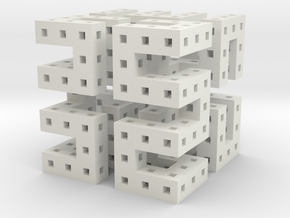 Hilbert Cube in White Natural Versatile Plastic