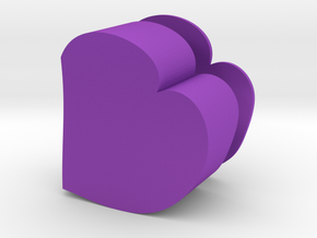 Heart Jewelry Box in Purple Strong & Flexible Polished