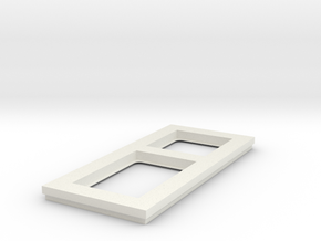 socket frame in White Natural Versatile Plastic