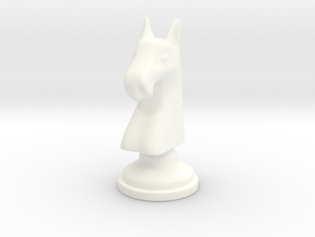 Chess figure - Horse in White Processed Versatile Plastic