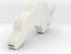 Bison Whistle in White Natural Versatile Plastic