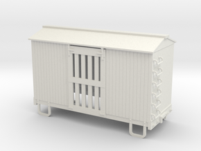 On30 14ft 4w ventilated box car  in White Natural Versatile Plastic