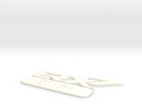 efini RX-7 Classic Rear Badge in White Processed Versatile Plastic
