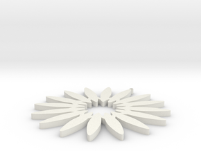 Sunflower in White Natural Versatile Plastic