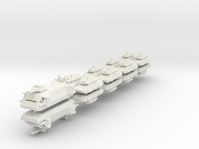 US Ground Support Fleet (18 Ships) 6mm in White Natural Versatile Plastic