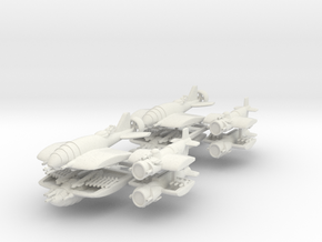 US Fighters Fleet (8 Ships) 6mm in White Strong & Flexible