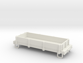 On30 16ft gondola low side  in White Natural Versatile Plastic