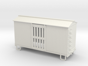 On30 16ft ventilated box car  in White Strong & Flexible