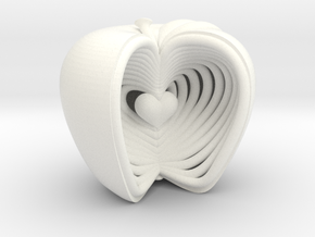 Growing Heart Apple in White Processed Versatile Plastic