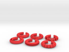 Wine Rings 20|7 in Red Processed Versatile Plastic
