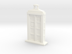 Police Box pendant in White Strong & Flexible Polished