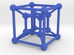 Tesseract in Blue Processed Versatile Plastic
