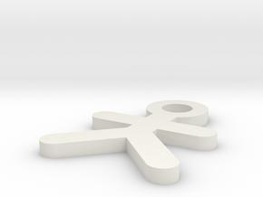 IMPRENTA3D LLAVERO MAN in White Natural Versatile Plastic