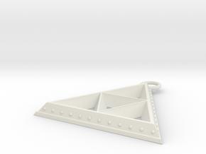 Pendant - TriForce (Bumps) in White Natural Versatile Plastic