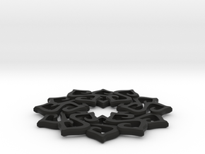 Nimyade Star Pendant in Black Natural Versatile Plastic