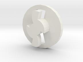 Airsoft midcap base component in White Natural Versatile Plastic
