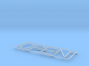 Neon Sign in Smooth Fine Detail Plastic