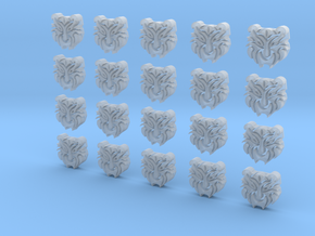 Tiger Face - 20, 10mm Icons in Smooth Fine Detail Plastic