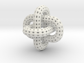 Borromean Rings in White Natural Versatile Plastic