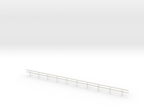N-Scale Wood Guard Rail in White Strong & Flexible