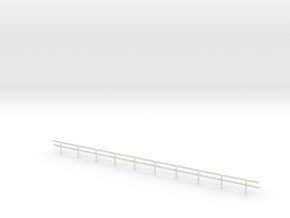 HO-Scale Wood Guard Rail in White Strong & Flexible
