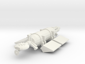 1/1000 Scale Whale Deep Space Freighter in White Strong & Flexible