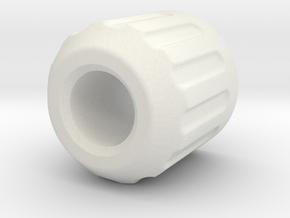 acc stl   OP CRANK ASSY 1 CRANK KNOB 1 in White Natural Versatile Plastic