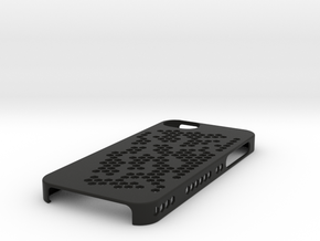 "iPhone 5 Case - ""Hex Holes"" in Black Strong & Flexible"